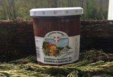 Confiture de poire-chocolat de la ferme de l'Harpin.