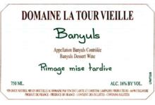 Domaine la Tour Vieille, Banyuls Rimage mise tardive