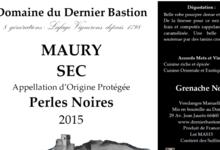 Domaine Du Dernier Bastion, AOP Maury Sec Perles Noires.