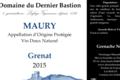 Domaine Du Dernier Bastion, VDN AOP Maury Grenat