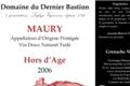 Domaine Du Dernier Bastion, VDN AOP Maury hors d'age