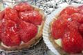 Au Fournil de Caixas, tartelettes aux fraises