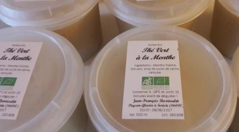 Les petits fruits de Jef, Le sorbet au thé vert & à la menthe fraîche
