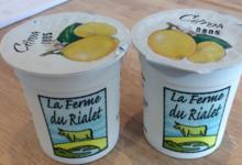 Ferme du Rialet, Yaourt au citron bio
