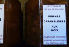 Les Confitures du Verger de la Pesquitte, pommes caramélisées aux noix