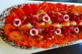 Jeux de pains, fougasse aux fruits rouges