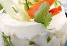 Tartare de maquereaux, gingembre et fromage frais