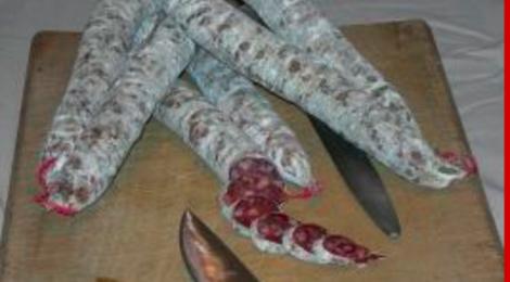 Charcuterie Rouch, Saucisse sèche de foie à l'ail