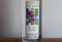 Distillerie du Petit grain, gin d'avril