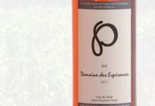 Domaine des Espérances, vin rosé Rho