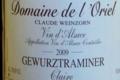 Domaine de l'Oriel Gewurztraminer Cuvée Claire