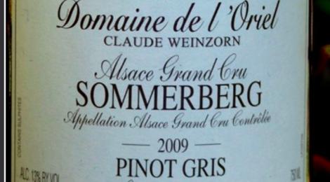 Domaine de l'Oriel Pinot Gris Sommerberg Les Terrasses