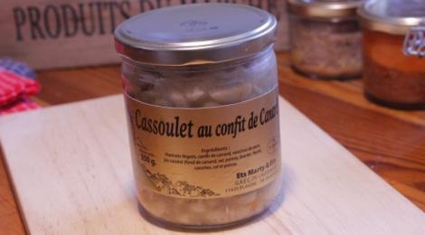 GAEC de caudemique. cassoulet au confit de canard