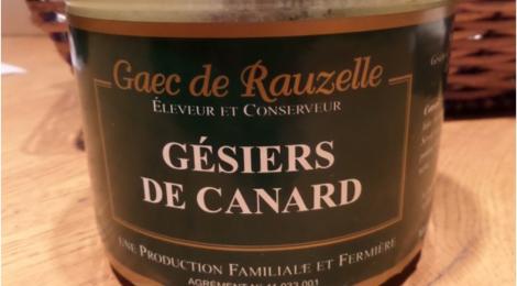 Ferme De Bellemayre, gaec de Rauzelle. gésiers de canard confits