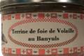 Conserverie Aymeric. Terrine de foie de volaille au Banyuls