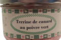 Conserverie Aymeric. Terrine de canard au poivre vert