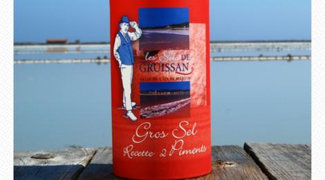 Les sels de Gruissan. Tube Gros Sel 2 Piments