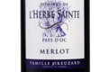 Domaine de l'Herbe Sainte. Pays d'oc. Merlot.
