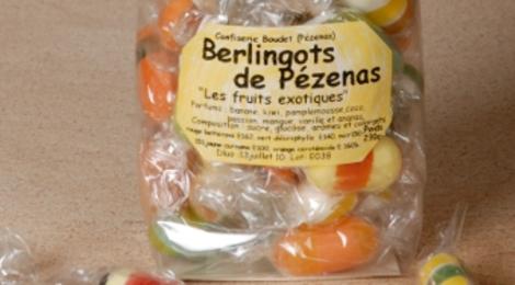 Les berlingots de Pézenas. Confiserie Boudet. Berlingots Exotiques
