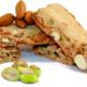 Croquant amandes-pistaches et farine de châtaigne
