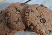 Carré Ronds. Cookies tout chocolat  , sans gluten
