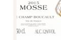 Domaine Mosse. Le Champ Boucault