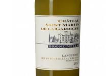 Château Saint Martin de la Garrigue. Cuvée Bronzinelle Blanc