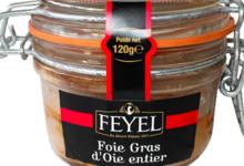 Feyel. Foie Gras d'oie entier en gelée au Pinot Gris en bocal