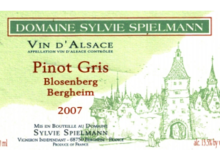 Domaine Spielmann Sylvie. Pinot gris Blosenberg