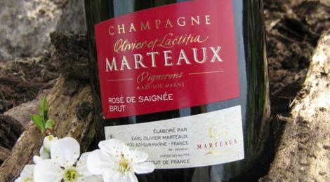Champagne Marteaux. Rosé de saignée