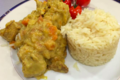 Chez Grill. sauté de porc au curry, riz pilaf