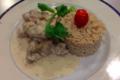 Chez Grill. Blanquette de veau riz pilaf