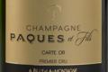 Champagne Paques Et Fils. Carte Or. Premier cru