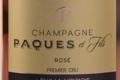 Champagne Paques Et Fils. Rosé. Premier cru