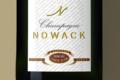 Champagne Nowack. Champagne demi sec carte d'or