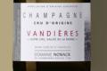 Champagne Nowack. Cru d'Origine Vandières, Extra Brut