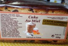 La Ruche Auvergnate. Cake au miel fruits confits