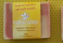 """miellerie """"Natur'Ailes"""". Savon artisanal miel curcuma propolis"""