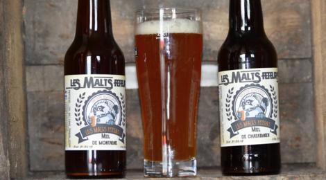 Les Malts Fêteurs. Bière au miel de montagne