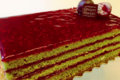 maison Ghisoni-Mariotti. cake pistache confitdeframboises