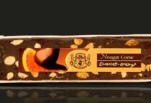 Confiserie Saint Sylvestre. Barres de nougat au chocolat-orange