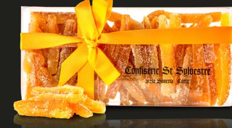 Confiserie Saint Sylvestre. Réglettes d'aiguillettes sucrées