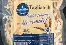 Colomba. Tagliatelli pâtes fraiches au blé complet