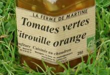 La Ferme de Martine. Tomates vertes citrouille orange