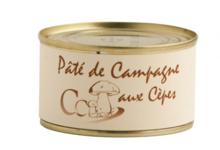 Foie gras Cassan. Pâté de campagne aux cèpes