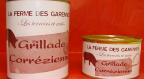 """La Ferme Des Garennes. Grillade corrézienne """"Sauté de porc aux châtaignes"""""""