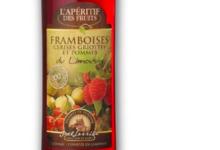 L'apéritif des fruits. framboise, cerise griotte et pomme du Limousin
