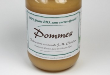 Confiturerie Chatelain. 100% fruits bio. Pommes