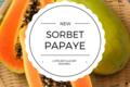 L'Atelier Glacier Nouméa. Sorbet papaye