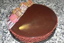 Boulangerie Le Moulin. Entremet trois chocolats